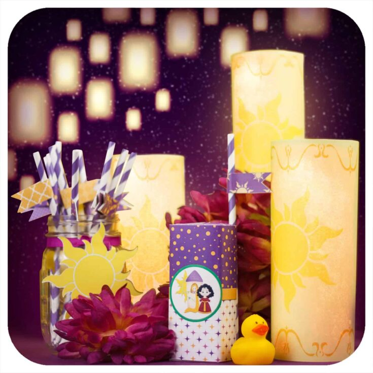 Printable lanterns with LED candles