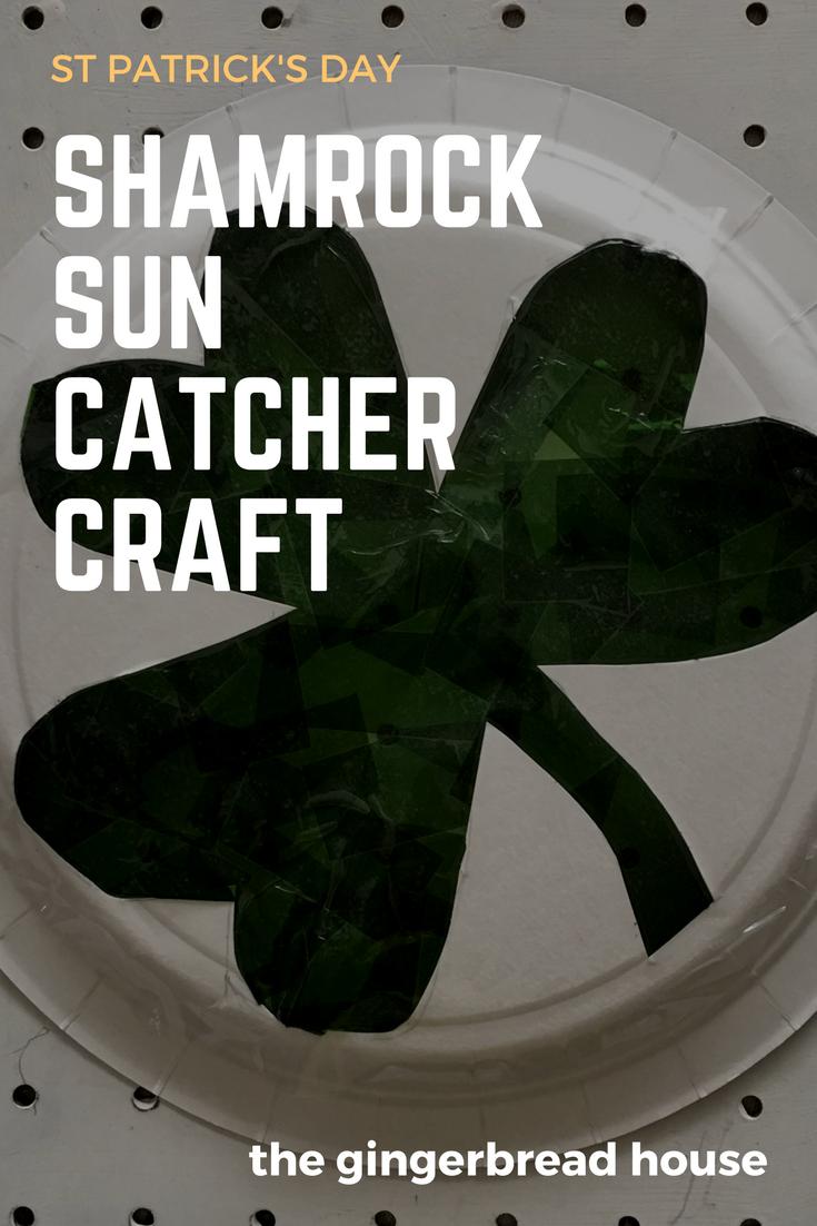 Shamrock sun catcher craft
