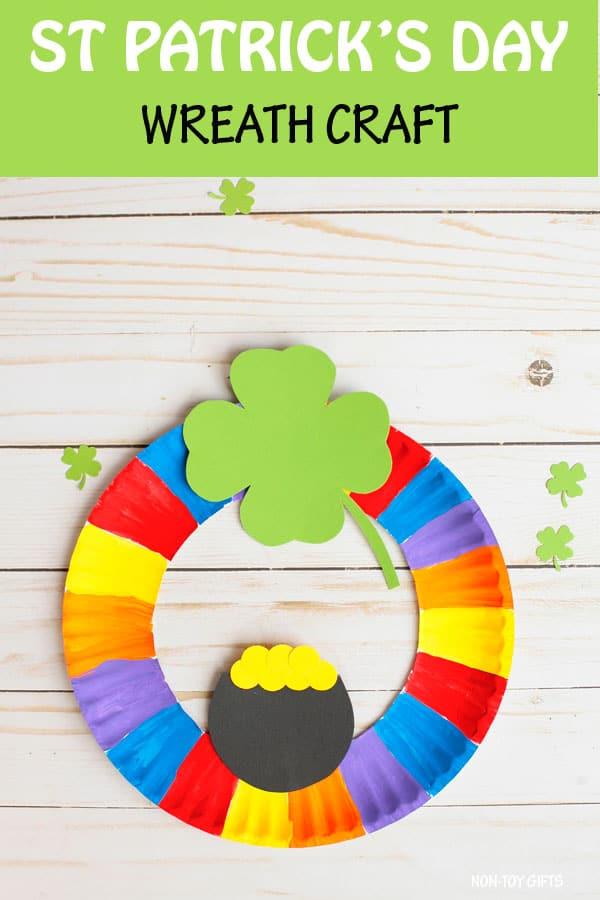 St Patrick's Day wreath craft