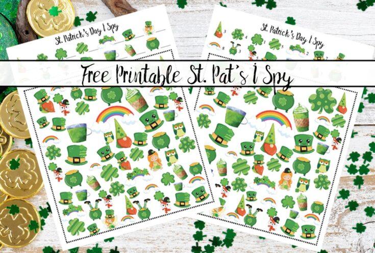 Free Printable St. Patrick's Day I Spy