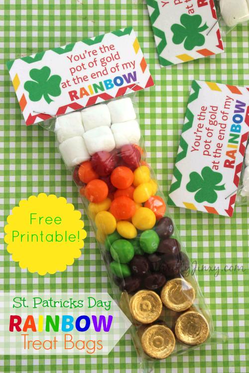 St. Patricks Day Rainbow Treat Bags