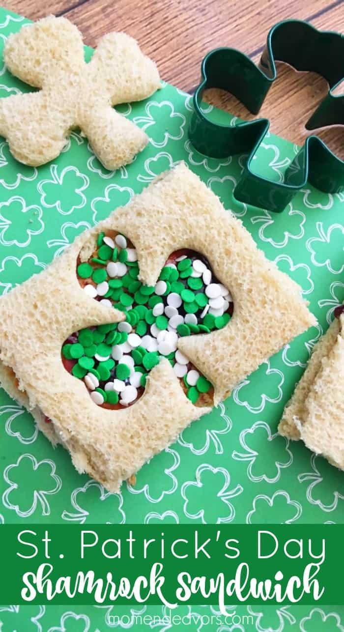 St. Patrick's Day Shamrock Sandwiches