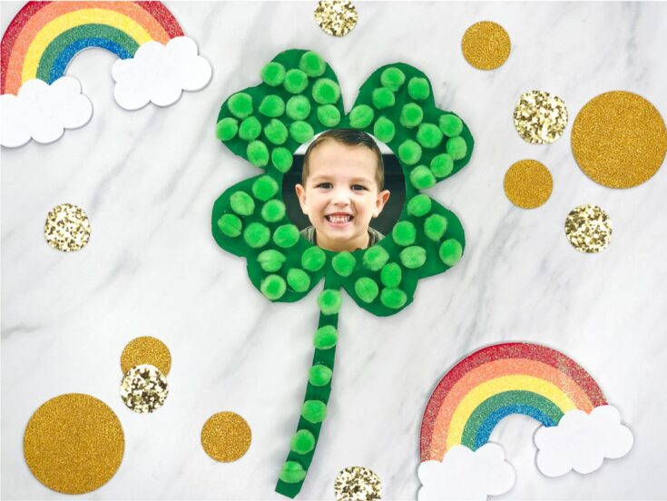 St Patrick's Day Shamrock Craft For Kids