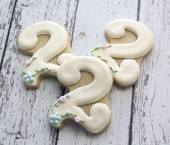 Tangled Inspired Number Cookies