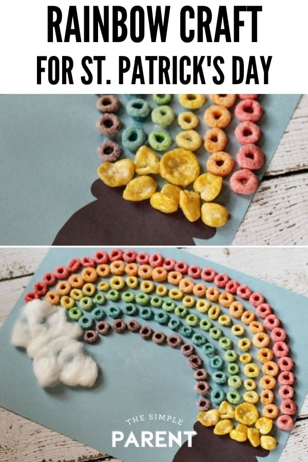 Froot Loops Rainbow Craft for St. Patrick's Day