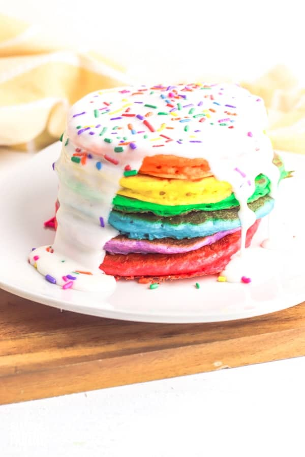 Make a Stack of Rainbow Pancakes