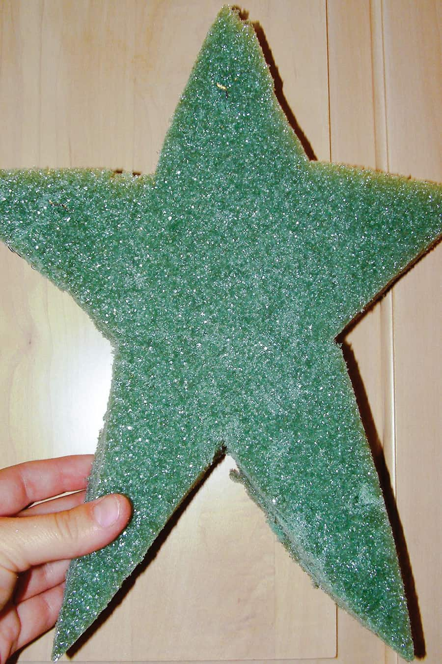 star cut out of floral foam