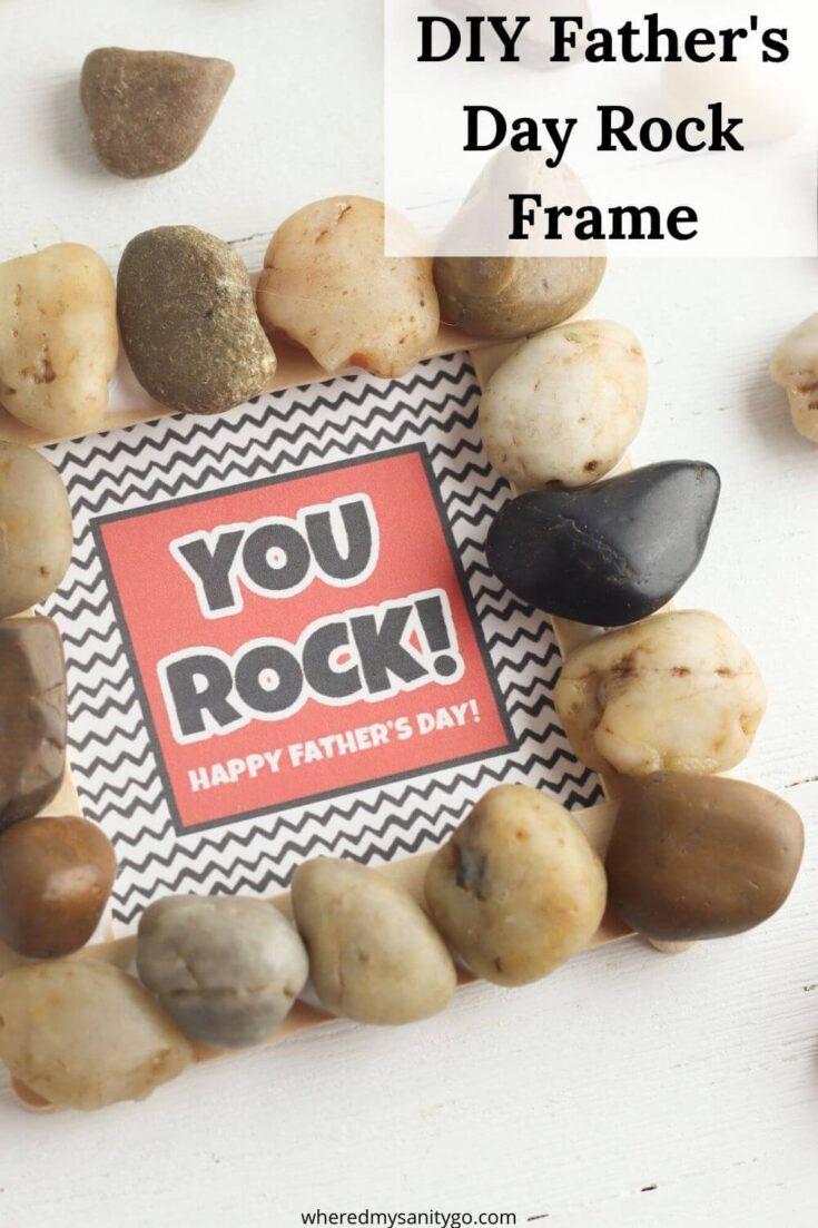 DIY Dad Rocks Card and Frame