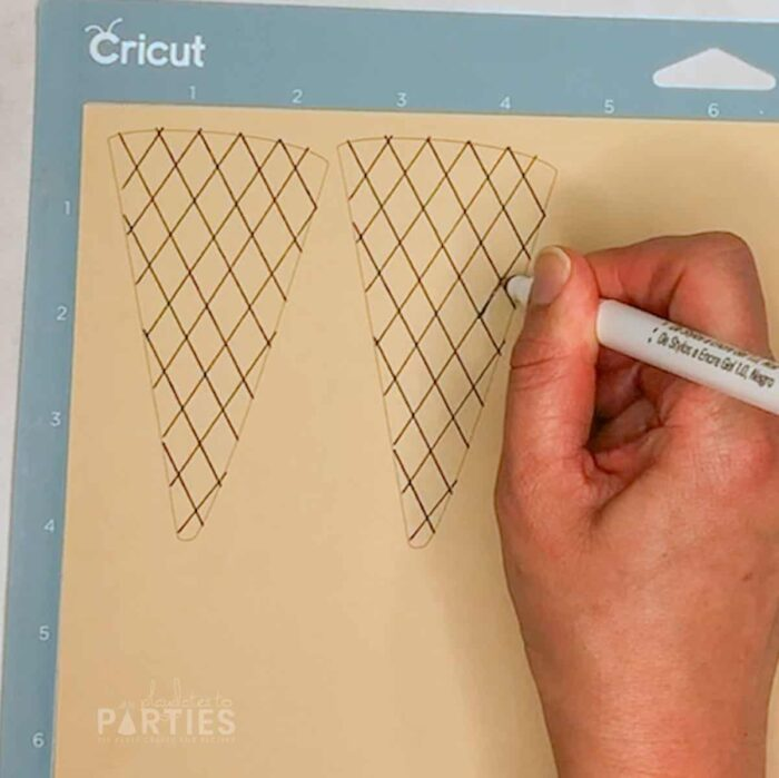 correcting lines that didn't draw with a cricut
