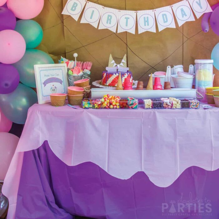 layered decorative plastic tablecloths