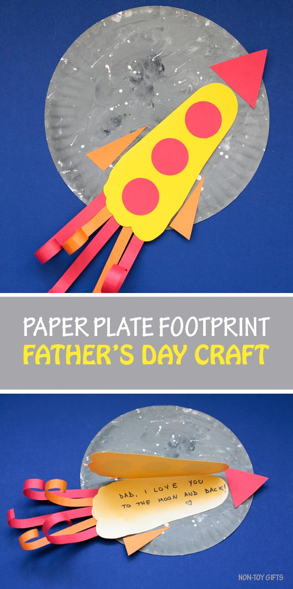 Paper plate footprint for Father's Day