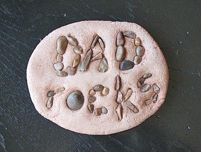Dad Rocks Salt Dough Paperweight