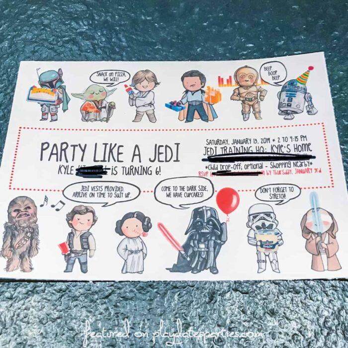 homemade party invitation
