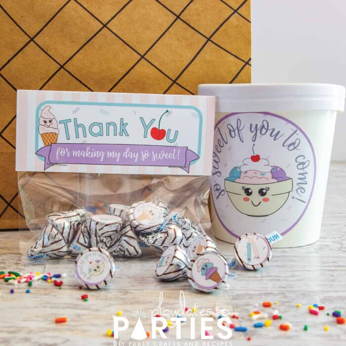 Ice cream party favors to put inn your gift bag