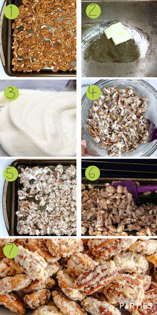 how to make candied pecans step by step