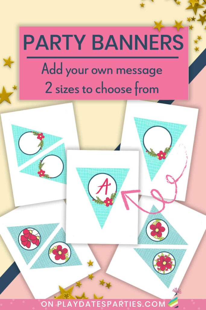 Party banners: add your own message in Adobe Reader. 2 sizes to choose from