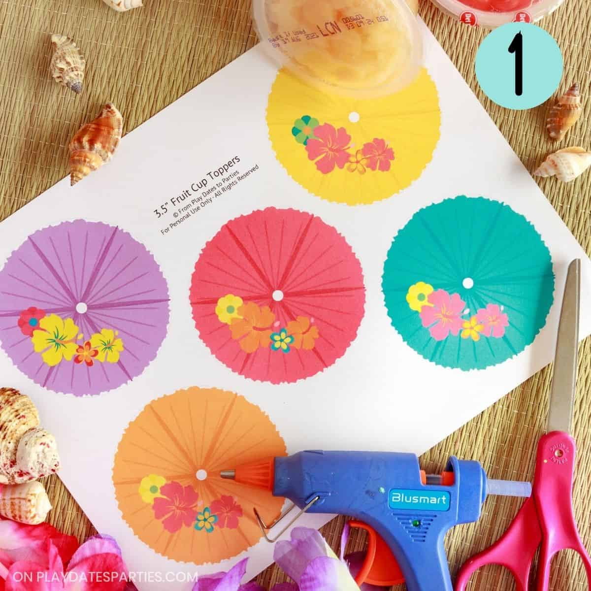 fruit cup labels step 1 - print the design and gather supplies