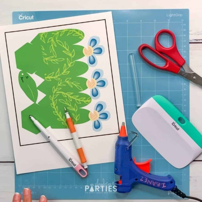supplies needed: printable file, scoring stylus or tool, scissors, light grip cutting mat, and scraper