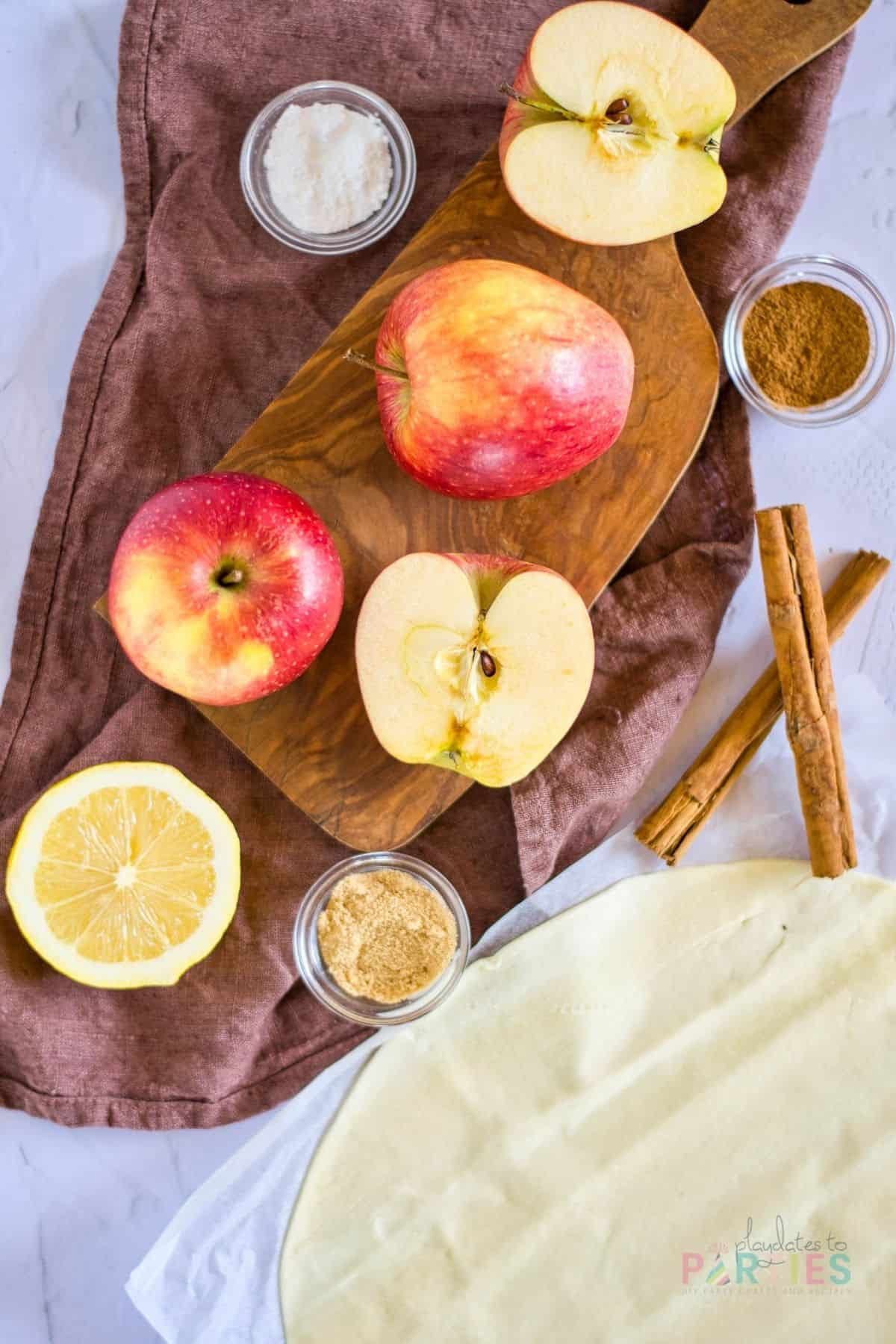 ingredients for apple rosettes