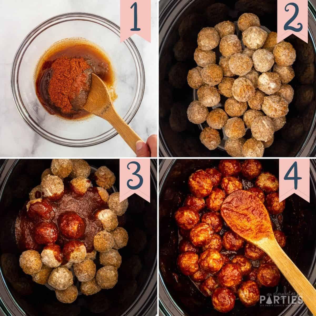 how to make crockpot meatballs