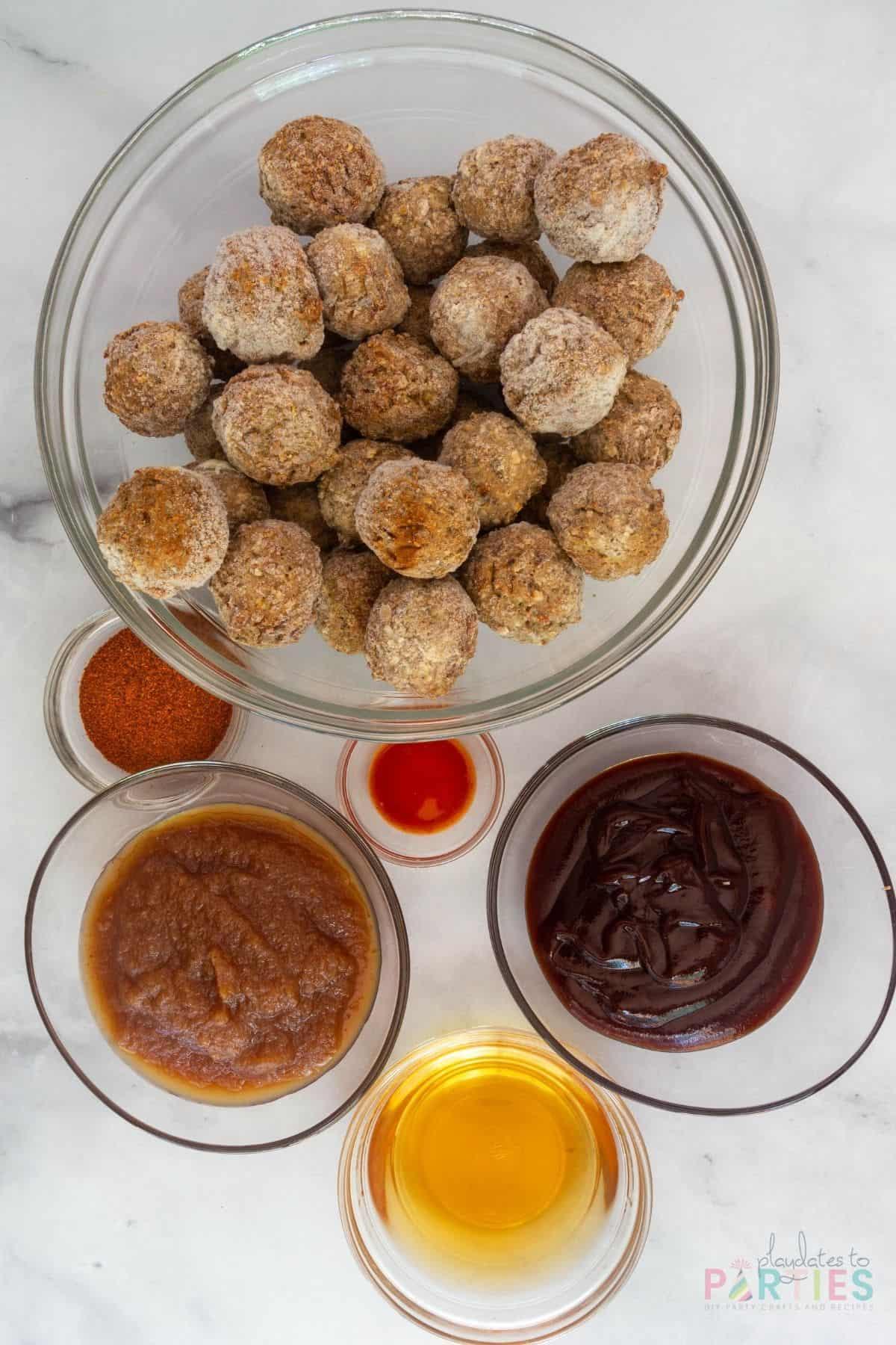 ingredients for crock pot apple butter meatballs