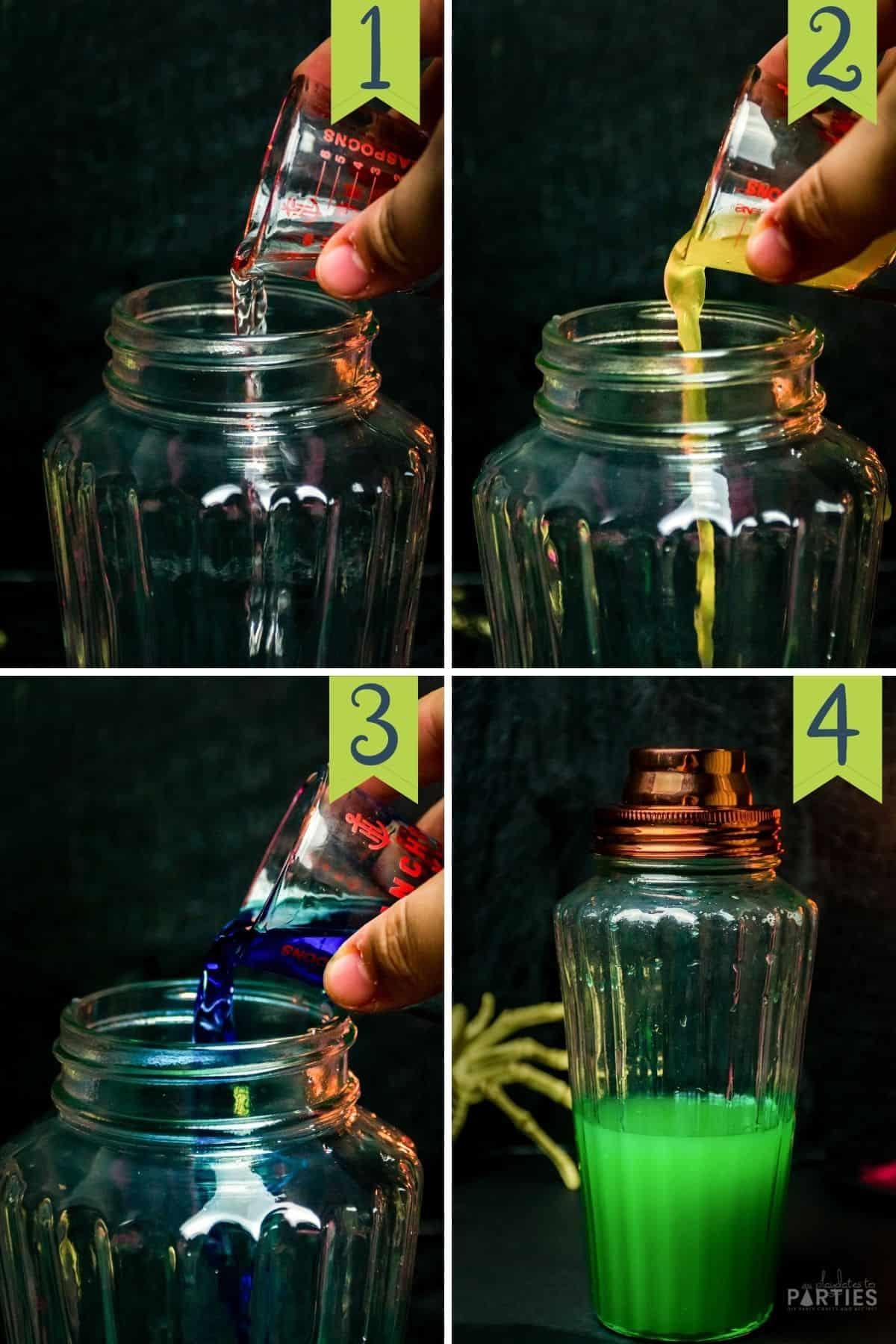 How to make a Frankenstein Green Halloween Margarita